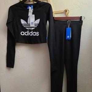 New Adidas crop top set